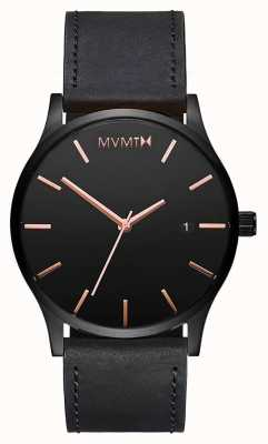 MVMT 经典黑玫瑰皮革|黑色表带|黑色表盘 D-MM01-BBRGL