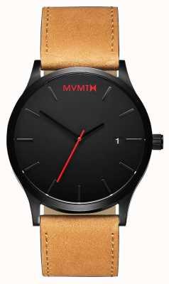 MVMT 经典的黑色棕褐色|棕色皮革表带|黑色表盘 D-L213.5L.351