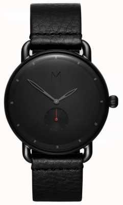 MVMT 左轮手盆|黑色皮革表带|黑色表盘 D-MR01-BBL