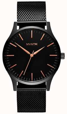 MVMT 40系列黑玫瑰|黑色pvd网格|黑色表盘 D-MT01-BBRG