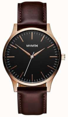MVMT 40系列玫瑰金棕色|棕色表带|黑色表盘 D-MT01-BLBR