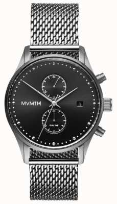 MVMT 航海家英镑|不锈钢网|黑色表盘 D-MV01-S2