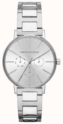 Armani Exchange 女式lola不锈钢银色计时手表 AX5551