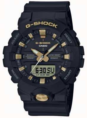 Casio G-shock模拟数字多功能亚光黑金 GA-810B-1A9ER