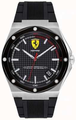 Scuderia Ferrari 男装向往黑色橡胶表带日期显示 0830529