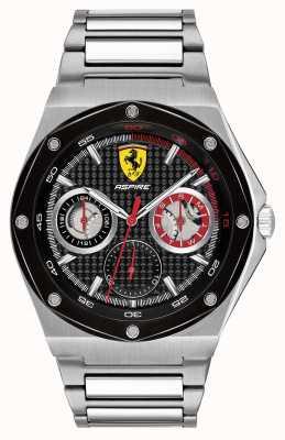 Scuderia Ferrari 男士向往不锈钢黑色表盘日期显示 0830535