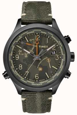 Timex 沃特伯里世界时间43毫米面料手表 TW2R43200VQ