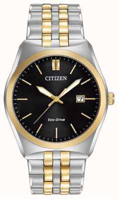 Citizen 生态驱动器corso wr100 |黑色表盘|不锈钢表带| BM7334-58E