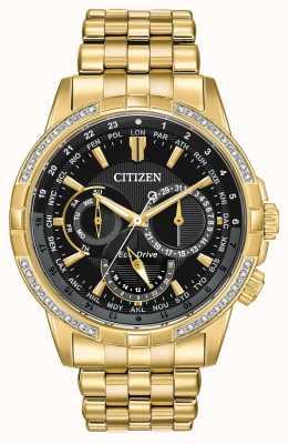 Citizen 男士calendrier生态驱动镀金32颗钻石 BU2082-56E