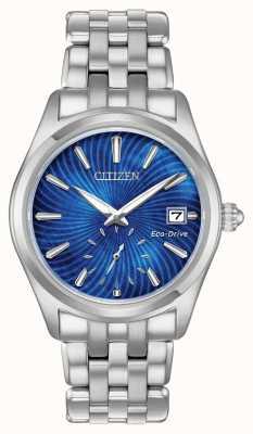 Citizen 女式生态驱动蓝色表盘不锈钢wr100 EV1030-57N