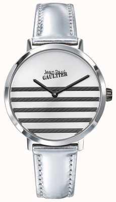 Jean Paul Gaultier Glam海军蓝女士银色皮表带 JP8505607