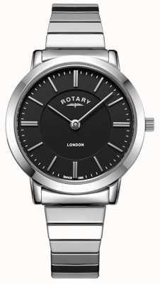 Rotary 女士伦敦不锈钢扩展手镯表 LB00765/04