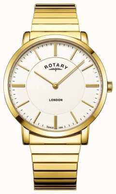 Rotary 男士伦敦金不锈钢膨胀手链手表 GB02766/03