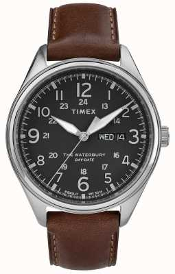 Timex 精神waterbury传统日期黑褐色 TW2R89000