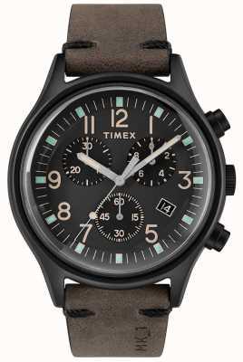 Timex 男装mk1 sst chrono 42mm黑色表壳黑色表盘黑色表带 TW2R96500