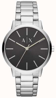 Armani Exchange 男士不锈钢表黑色表盘交换 AX2700