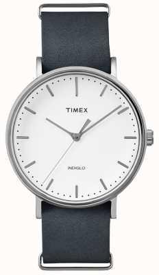 Timex Fairfield黑色表带3手表 TWF3C8140UK