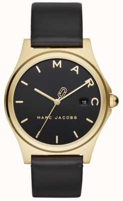 Marc Jacobs 女式亨利手表黑色皮表带 MJ1608