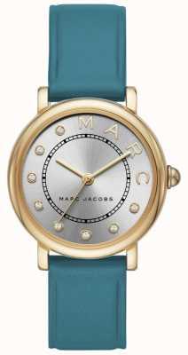 Marc Jacobs 女装marc jacobs经典手表蓝绿色皮革 MJ1633