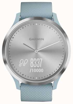 Garmin Vivomove hr活动追踪器蓝色橡胶银色表盘 010-01850-08