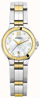 Michel Herbelin 女士newport royale双色珍珠贝母钻石表盘 14298/BT89