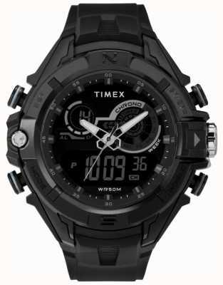 Timex 男士47毫米黑色表壳黑色戒指黑色表带 TW5M23300