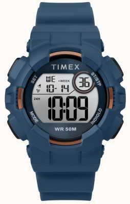Timex 女式44毫米蓝色表壳蓝色表带 TW5M23500