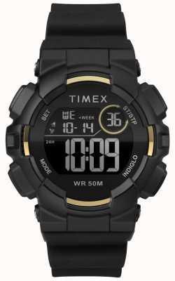 Timex 女式44毫米黑色表壳黑色表带 TW5M23600
