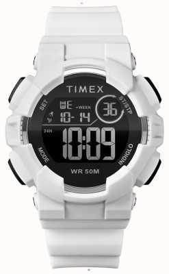 Timex 女式44毫米白色表壳白色表带 TW5M23700