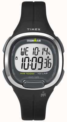 Timex 女装铁人精华10黑色和铬 TW5M19600