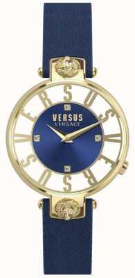 Versus Versace 女装kristenhof蓝色表盘蓝色皮革表带 SP49020018