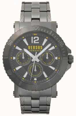 Versus Versace 男士steenberg灰色表盘灰色不锈钢表链 SP52050018