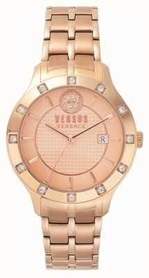 Versus Versace 女式蕨菜玫瑰金表盘玫瑰金pvd手链 SP46040018