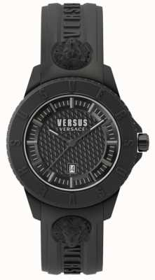 Versus Versace 东京r blackdial黑色硅胶表带 SPOY230018