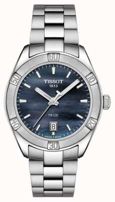 Tissot 女士PR 100 Sport Chic 36mm不锈钢蓝色 T1019101112100