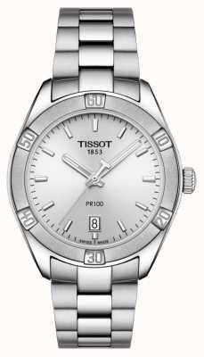 Tissot 女装PR 100 Sport Chic 36mm不锈钢银 T1019101103100