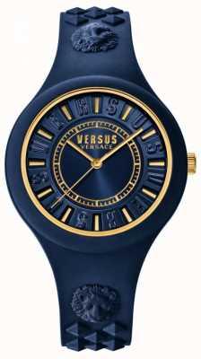 Versus Versace 火岛蓝色硅胶表带蓝色表盘 SOQ090016