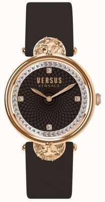 Versus Versace 女装维多利亚港口勃艮第皮革表带 SP33150018