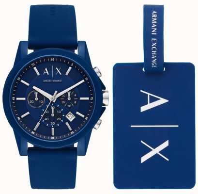 Armani Exchange 男士运动手表礼品套装 AX7107