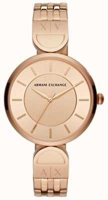 Armani Exchange 女士连衣裙手表玫瑰金 AX5328