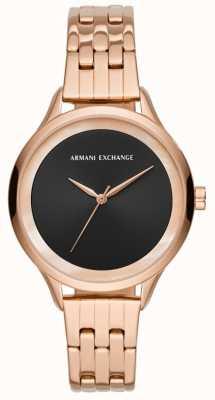 Armani Exchange 女士连衣裙手表玫瑰金 AX5606