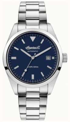 Ingersoll 男士依赖不锈钢表链蓝色表盘 I05502
