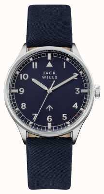 Jack Wills 男装camperdown海军蓝色表盘海军蓝皮表带 JW001BLSS