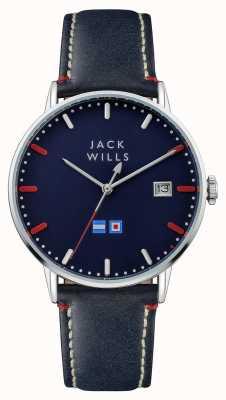 Jack Wills 男装batson蓝色表盘蓝色皮表带 JW002BLSS