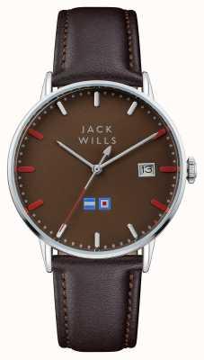 Jack Wills 男士batson棕色表盘棕色皮表带 JW002BRBR