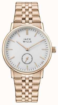 Jack Wills 女式巴克利白色表盘玫瑰金pvd手链 JW007WHRS