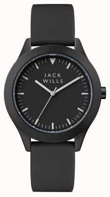 Jack Wills 女式黑色表盘黑色硅胶表带 JW008BKBK