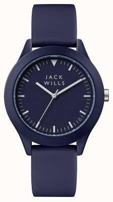 Jack Wills 男士联盟蓝色表盘蓝色硅胶表带 JW009BLBL