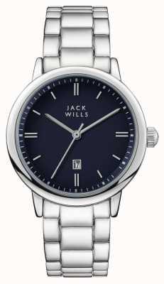 Jack Wills 女装raleigh蓝色表盘不锈钢表链 JW010BLSS