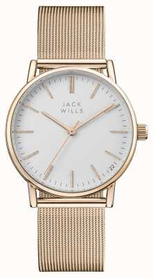 Jack Wills 女装浆果白色表盘玫瑰金pvd网眼手链 JW013RSRS